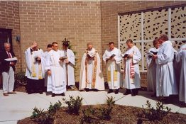 Dedication of the new church - April 23rd, 1995
