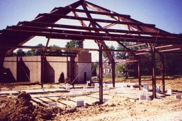 The new church under construction - 1995